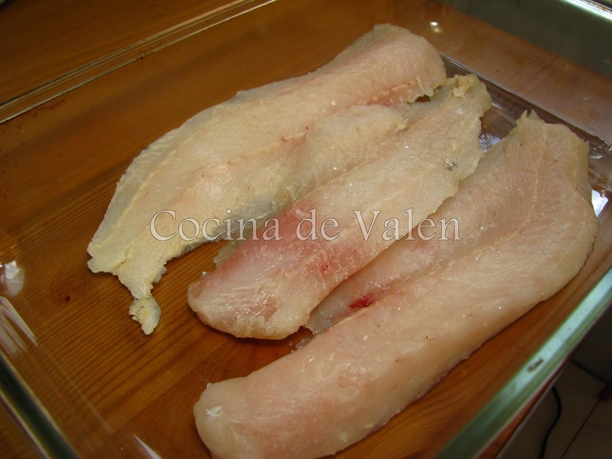 Filete de Merluza con Gambas - Cocina de Valen