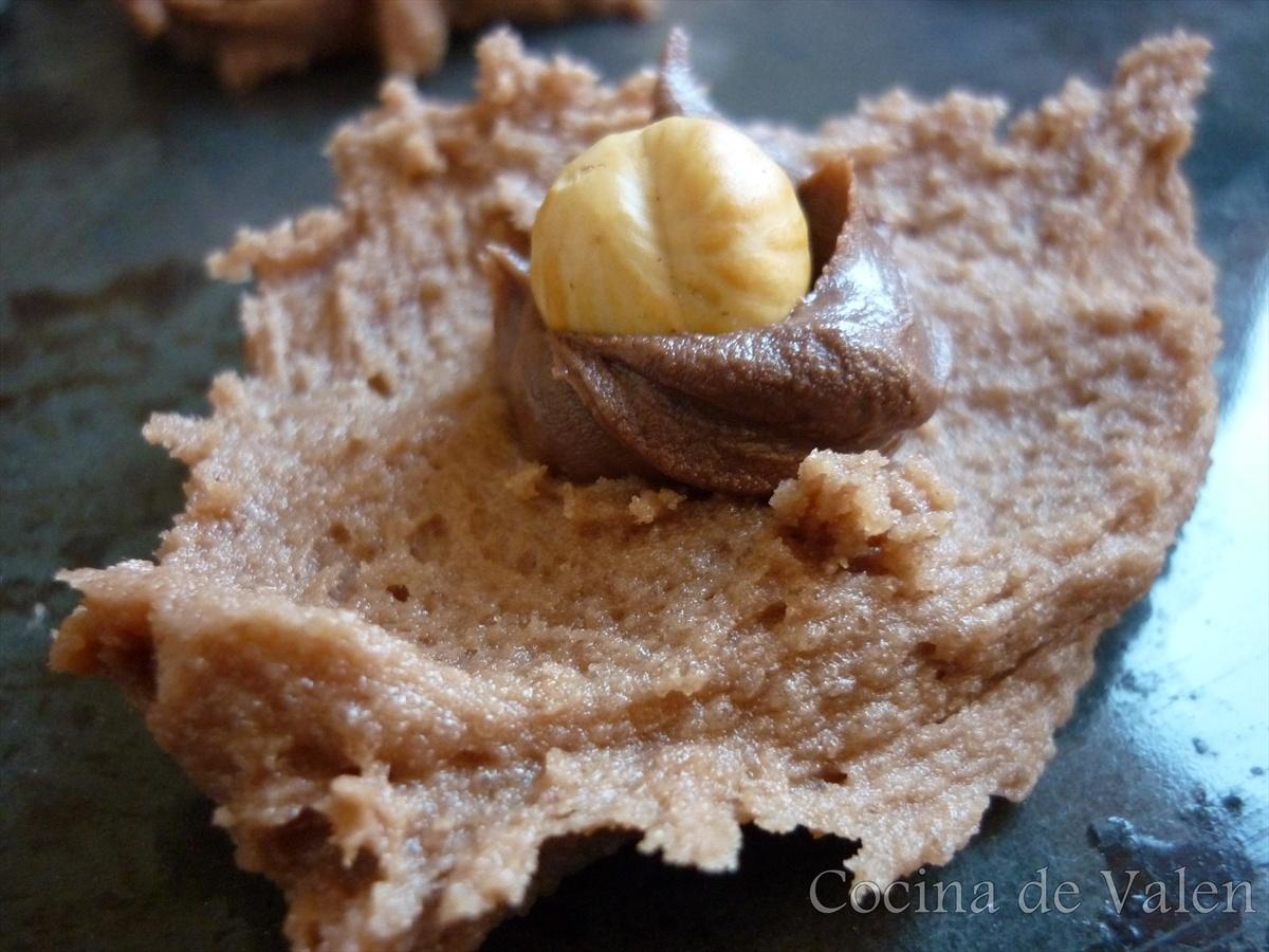 Galletas de Chocolate y avellanas (Nutella Cookies) - Cocina de Valen