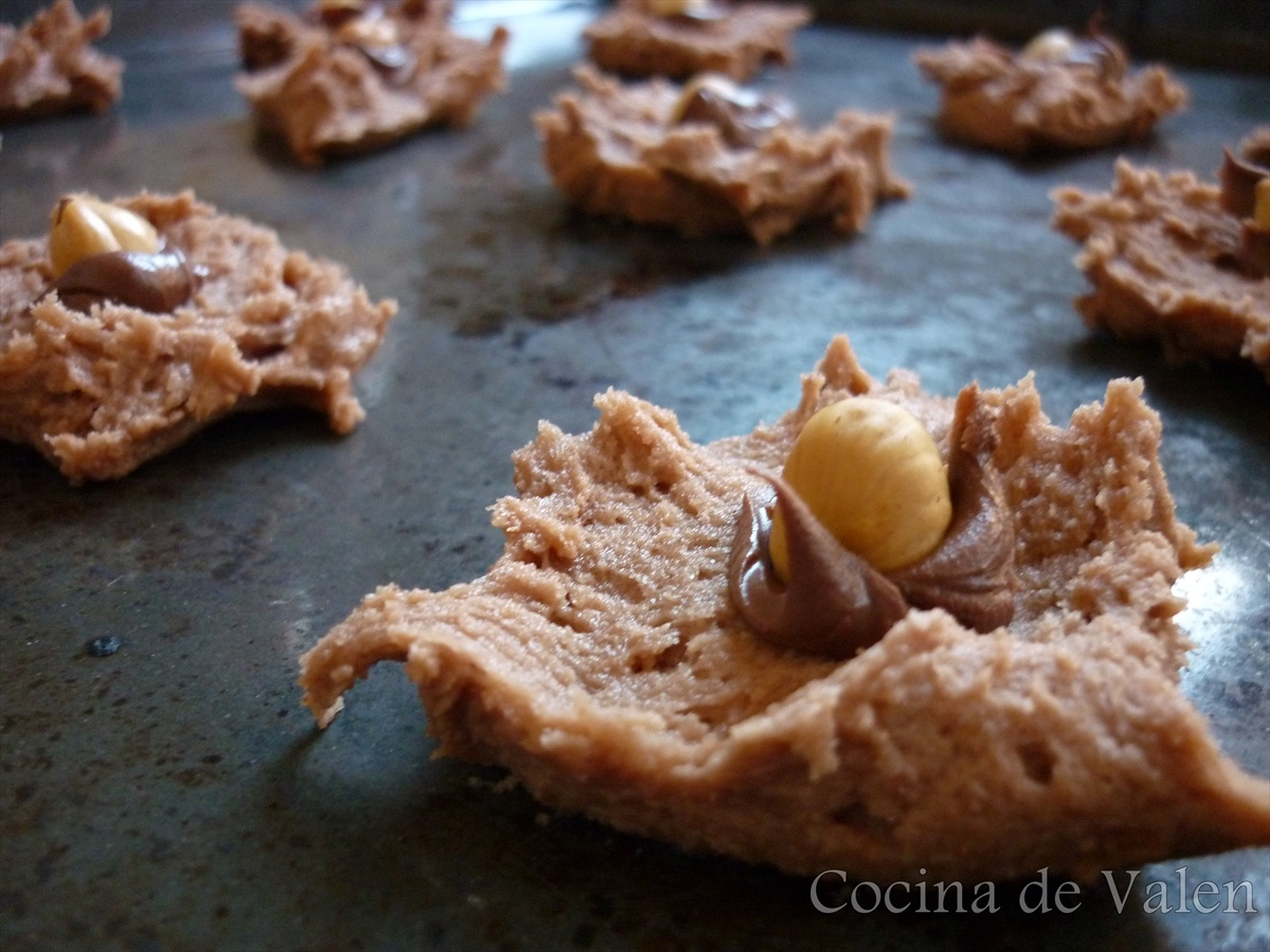 Galletas de Chocolate y avellanas (Nutella Cookies) - Cocina de Valen