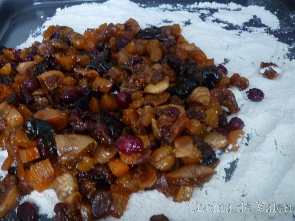 Frutas maceradas para Torta Negra de Navidad