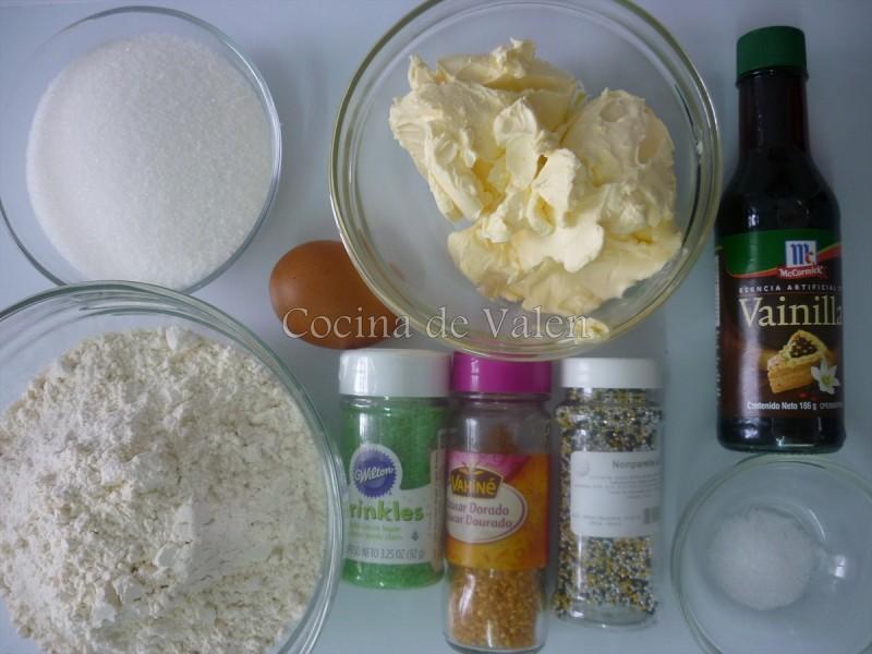 Ingredientes masa de galletas