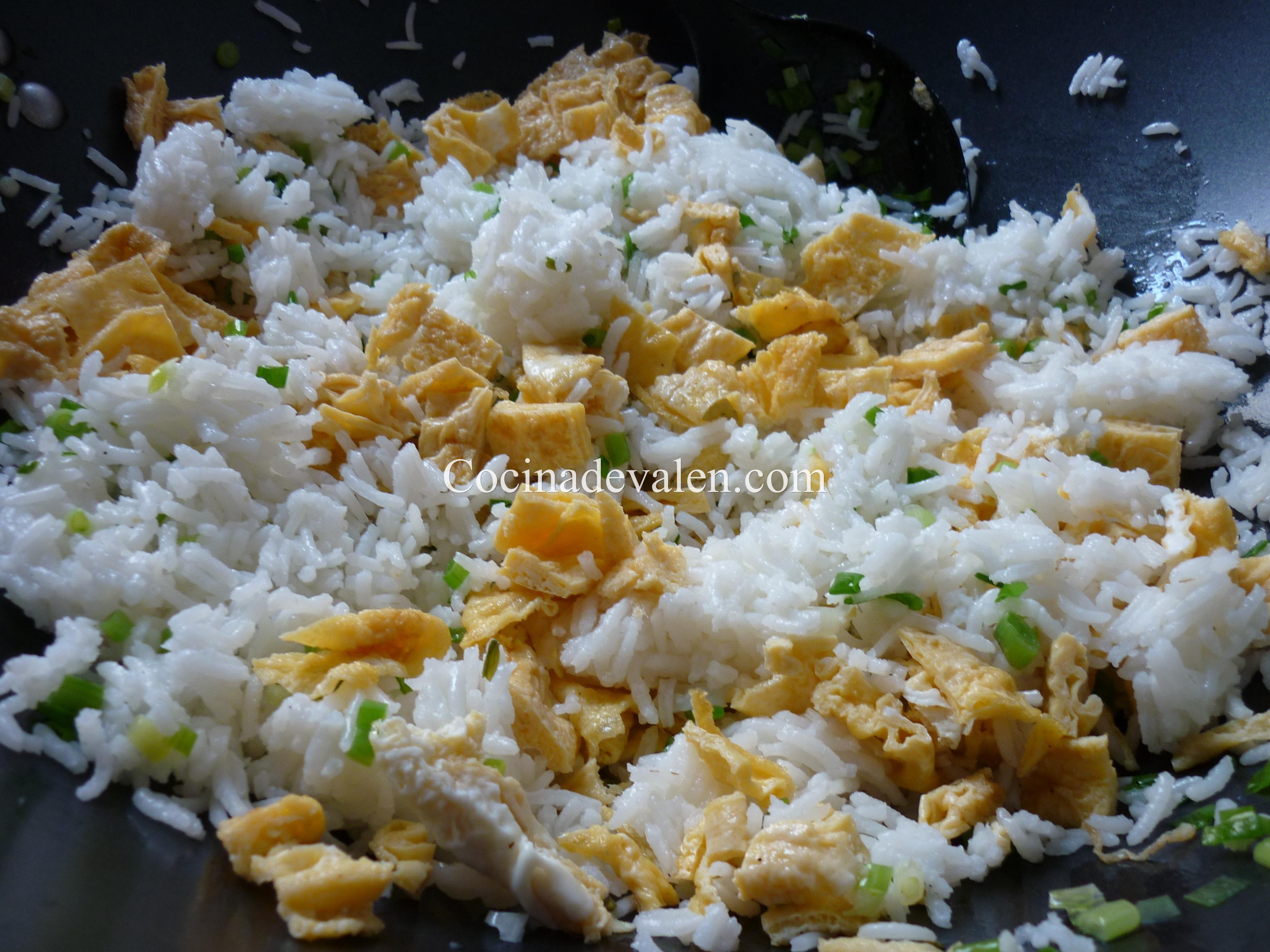 Arroz salteado con pollo pi a y anacardos cocina de valen - Arroz salteado con pollo ...