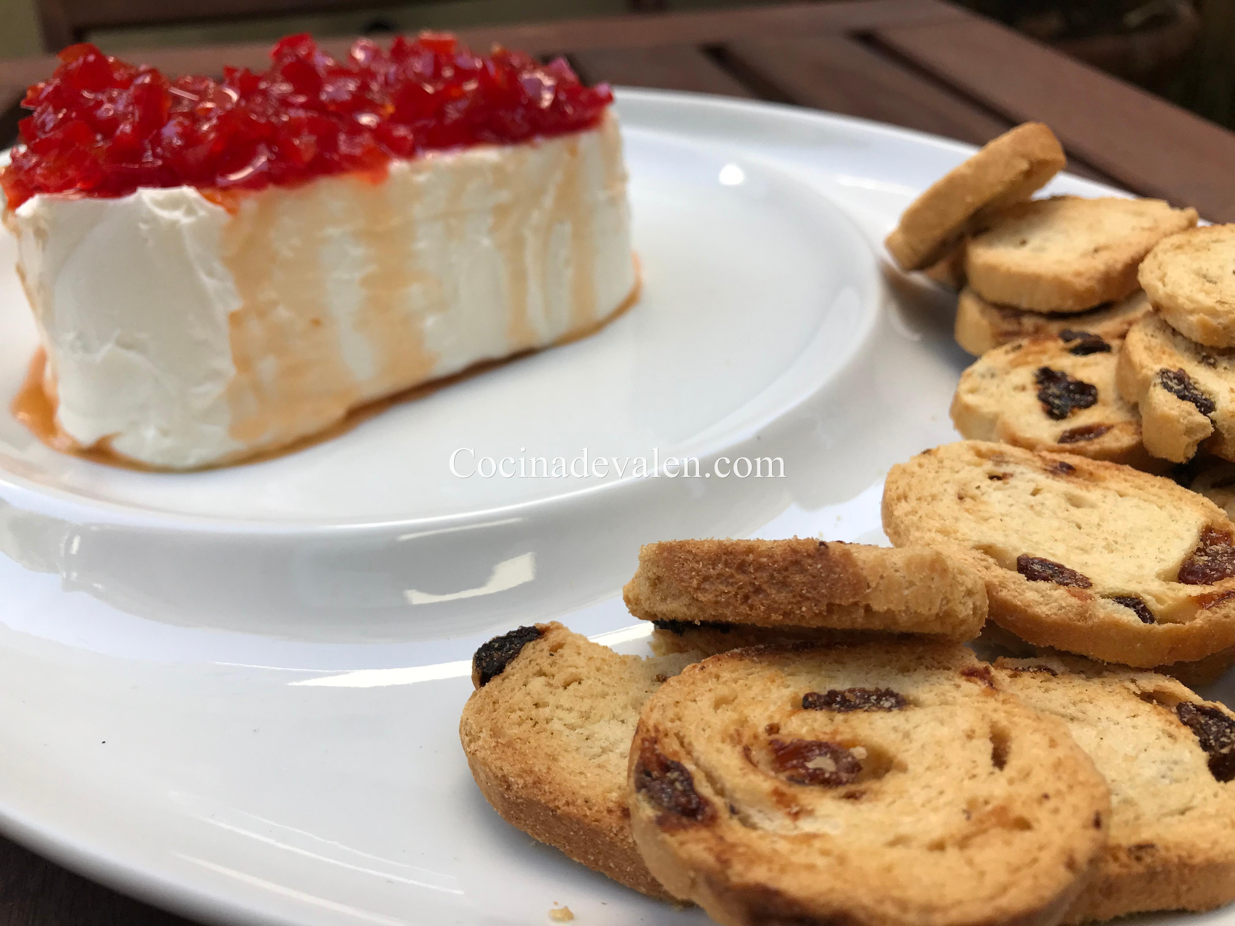 Dip de queso crema y pimentón dulce