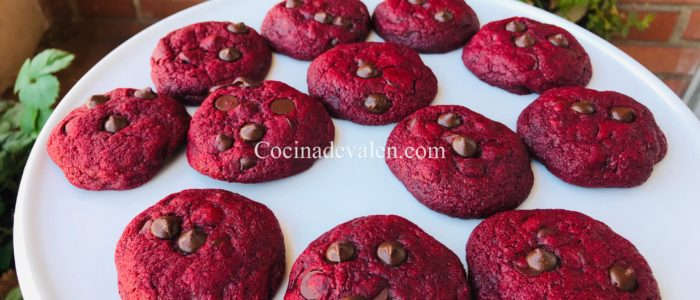 Galletas de red velvet