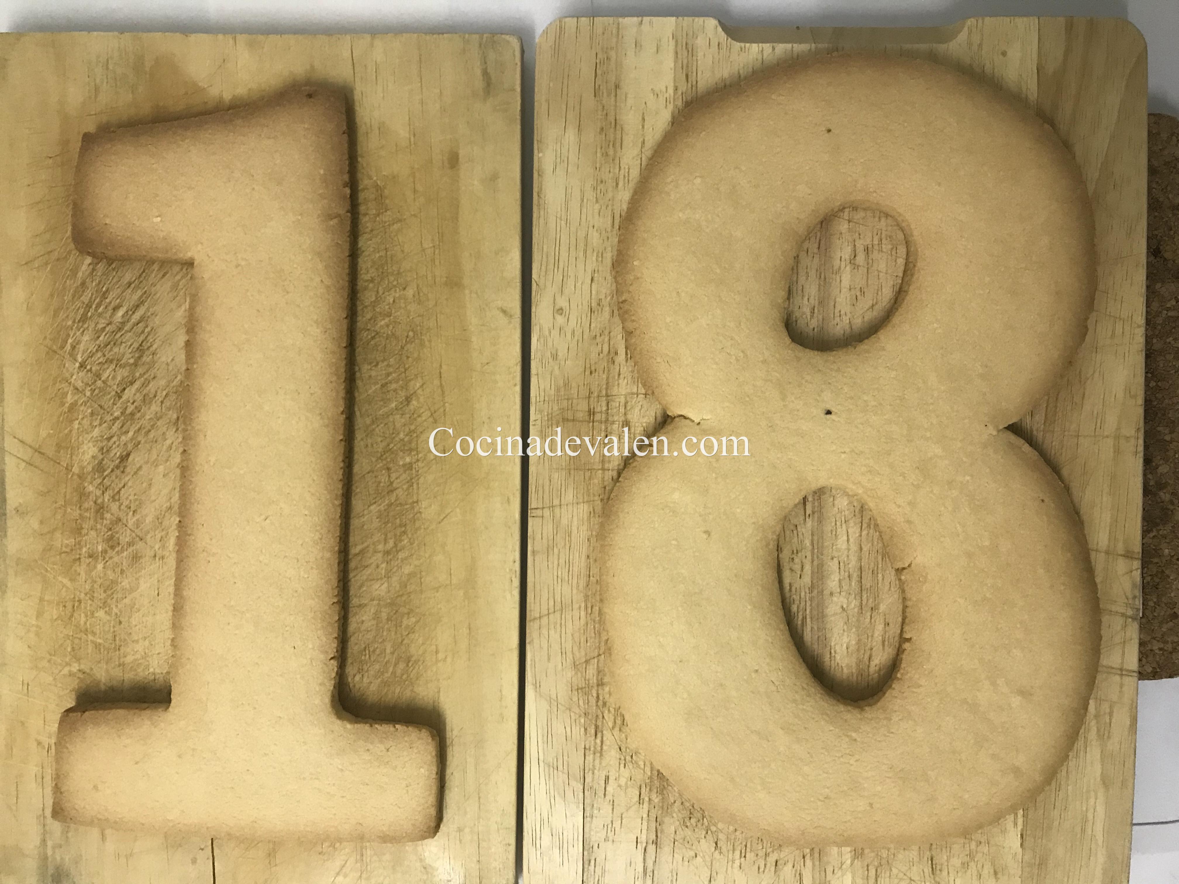 Tarta de letras o números